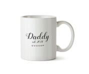 Daddy Est.2018 Mug Fathers Day Present New Dad Gift Ceramic Coffee Tea Cup 300ml