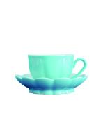 Augarten 5900157005 Mocha Cup, Porcelain, Solid Turquoise, 9.5 x 9.5 x 5 cm 2 Units