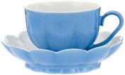 Augarten 5900157002 Mocha Cup, Porcelain, Solid Light Blue, 9.5 x 9.5 x 5 cm 2 Units
