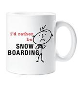 Mens I'd Rather Be Snowboarding Mug Snow Boarding Gift Present Friend Boyfriend Husband Dad Christmas Novelty Humour Funny