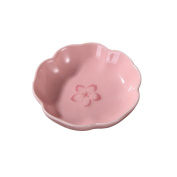 2 pcs Sakura Shaped Ceramics Seasoning Dishes,appetiser, seasoning, vinegar, salad, soy sauce seasoning dish dish