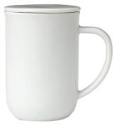 Viva Scandinavia Minima Balance Tea Cup (0.5L), Porcelain, White, 13.2 x 9 x 14.2 cm