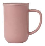 Viva Scandinavia Minima Balance Tea Cup (0.5L), Porcelain, Pink, 13.2 x 9 x 14.2 cm