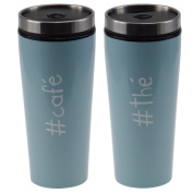 Impact Paris 27834 – Colorama – Insulated Tea Coffee Stainless Steel Travel Mug Pale Blue 7.5 x 18 cm
