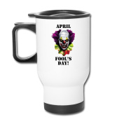 MZONE Funny Auto Mugs April Fool's Day Gift Vacuum Sealed Tumbler White