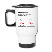 MZONE Superior Auto Mugs Are You Made Of Copper And Tellurium Because Youre Cute Periodic Table Auto Seal Travel Mugs White