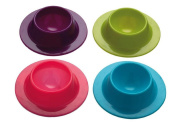 Laat Durable Silicone Egg Cups & # X153; Eggs Trays Shelf Storage