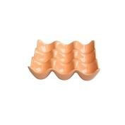 Ceramic 9-Cup Egg Holder Tray Crate for Refrigerator Storage, Orange