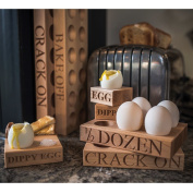 Solid Beech Wood Half Dozen Egg Tray from Culinary Concepts.