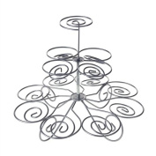 Homeford Metal Holder Stand, 13 Cupcakes, 3 Tier, 20cm , Silver, 20cm