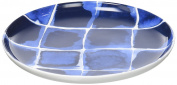 R2S 1718indi 15.5x15.5x2 cm Tapas Dish 15 cm Bone China White/Blue