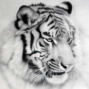 ZJENE DIY 5D Tiger Diamond Painting Cross Stitch Rhinestone Embroidery Home Decor