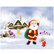 Hunpta 5D Christmas Diamond Rhinestone Pasted Embroidery Painting Cross Stitch Home Decor