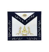Masonic Grand Lodge Past Master Apron Gold Hand Embroidery Apron