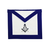 Masonic MASTER MASON Hand Embroided Apron with square compass with G Velvet
