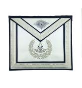 Masonic Past Master Silver Handmade Embroidery Freemasons Apron