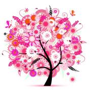 Jamicy Fashion Colourful Tree Pattern DIY Rhinestone Pasted Painting Cross Stitch