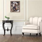 erthome Living Room DIY 5D Diamond Sticker Couple Rhinestone Cross Stitch Painting Home Decor