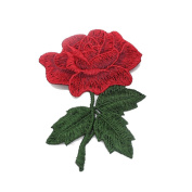 Rcool 5PCS DIY Flowers Applique Patch Embroidered Sew On Embroidery Patch Clothing Supplies Ornament Crafts Trim