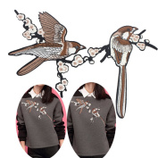 Rcool Noble Bird Embroidered Iron Patches Stitching Clothes DIY Supplies Crafts Trim
