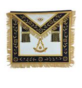 Masonic Past Master Apron Gold Hand Embroidery Apron Navy Velvet
