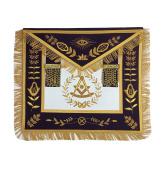 Masonic Past Master Apron Gold Hand Embroidery Apron Purple Velvet