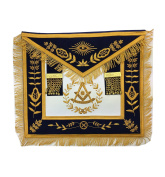 Masonic Past Master Apron Brand New Gold Hand Embroidery Apron Navy