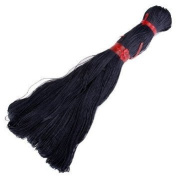 Nalmatoionme 1 Bundle of 45 Metres Waxed Cotton Cord String 1mm - Black