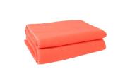 Zoeppritz Soft-Fleece Cover, 65% Polyester / 35% Viscose, Orange, 160x200 cm
