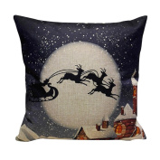 Christmas Pillow Case Cushion Cover Mingfa Soft Sofa Bed Home Square Throw Pillow Covers Xmas Theme 45x45 cm