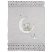 ALVI Crawling Blanket 100 x 135 cm Star and Stars 898 Grey/Beige – 9