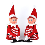 30cm long leg soft body vinyl face elf with hat & tag