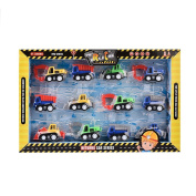 Per Pull Back Construction Vehicles Set Toy Cars Gift Pack For Baby Toddlers Children Kids-12pcs