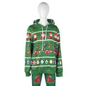 YF Women Long Sleeve Ugly Christmas Printed Pullover Hoodie Sweatshirt Outwear