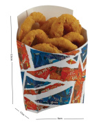 Union Jack Great Britain Fish & Chips - Fast Food Take Away Disposable Packaging Tray Boxes - Select Items