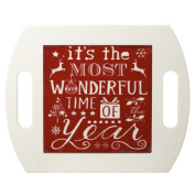 Heaven Sends Most Wonderful Time Of The Year Christmas Tray (20.5x25.5x1cm)