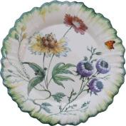 faïencerie niderviller ~ Botanical Extravagance . rel6626 - Assiette de présentation ronde