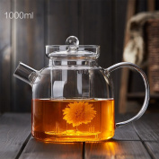 CHENGYI Glass Teapot Heat Resistant Glass Thicker Filter Teapot High Temperature Resistant Health Pot 1000ml