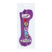 DOPLA Spoon Purple Disposable 20PZ Art 03745