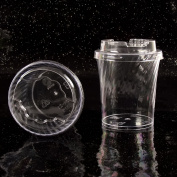 Disposable Canape Dishes Dessert Cups Clear Plastic Lids ALL TYPES MEGA LISTING[Round Tapered,10]