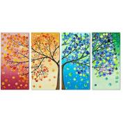 KAMIERFA Stamped Cross Stitch Scenery Four Seasons Rich Tree