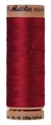 Mettler Silk-Finish 40 Weight Solid Cotton Thread, 164 yd/150m, Fire Engine