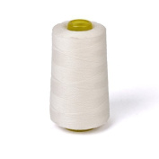 W.Air Cottat Sewing Thread for Sewing Machine 3000 Yards Unbleached White
