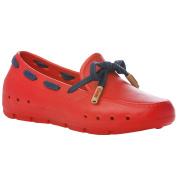 Mini Mocks Boys Girls Kids Childrens Slip On Loafer Shoes - Red Navy - 11J