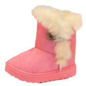 Winkey Winter Fashion Baby Girls Plush High Tube Snow Boots