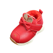 VEMOW Baby Shoes Warm Infant Boys Girls Martin Cartoon Leather Sneaker Kids Casual Shoes