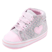 Winkey Toddler Kids Comfortable Soft Warm Baby Heart shape Anti-slip Canvas Shoe Sneakers