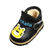 TUDUZ Boys Shoes, For 6-24 Months Baby, Baby Warm Infant Boys Girls Martin Cartoon Leather Sneaker Kids Casual Shoes
