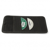 Alamor 12 Disc Capacity Cd Car Sun Visor Storage Dvd Holder Black Pocket