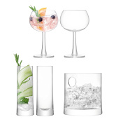 Ginsanity Complete Gin Starter Set Glasses and Ice Bucket